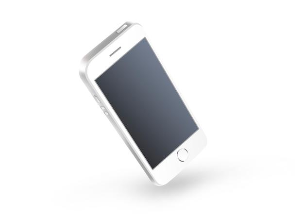 Pusty czarny smartphone ekran odizolowywający