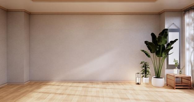 Pusty - czysty nowoczesny pokój w stylu japońskim. renderowanie 3d