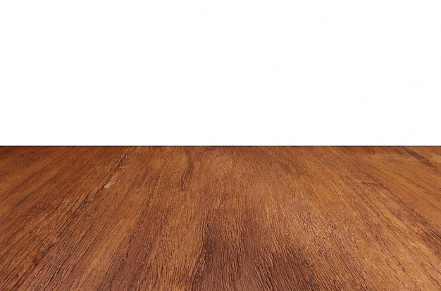 Pusty drewniany podłogowy perspektywiczny stołowego wierzchołka tło