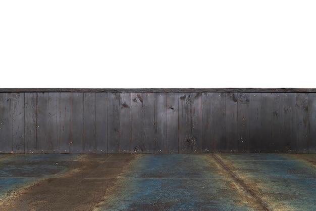 Pusty drewniany stół tło. izolowany obraz