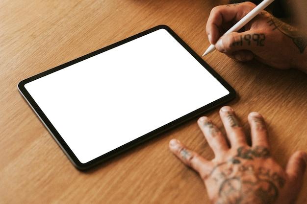Pusty ekran cyfrowego tabletu