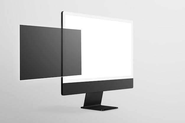 Pusty ekran komputera