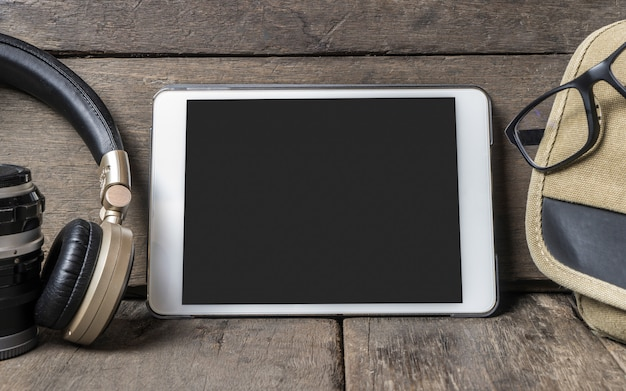 Pusty ekran tabletu do szablonu ramki na zdjęcia