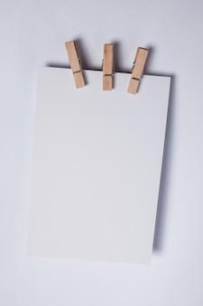 Pusty element planowania notatek papierowych przypomnienia