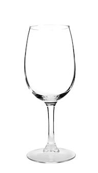 Pusty kieliszek do wina na białym tle