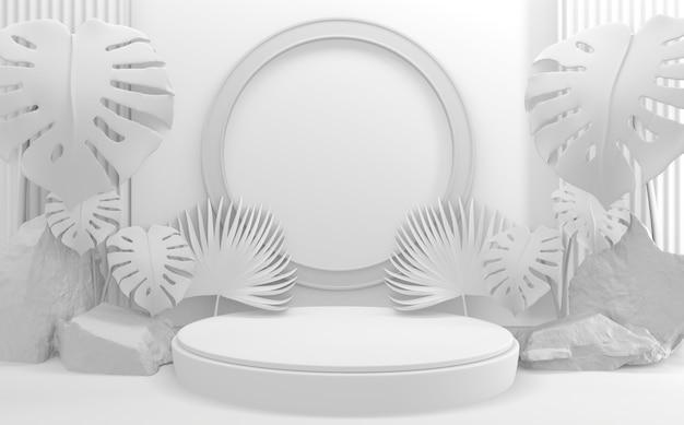 Pusty kolor stylu podium minimalistyczny geometryczny. renderowanie 3d