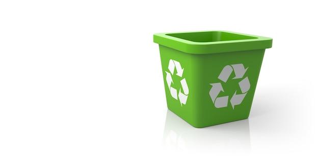 Pusty kosz z recyklingu znak. ilustracja 3d