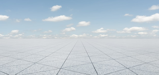 Pusty kształt trójkąta płytki kamienne podłogi z nieba