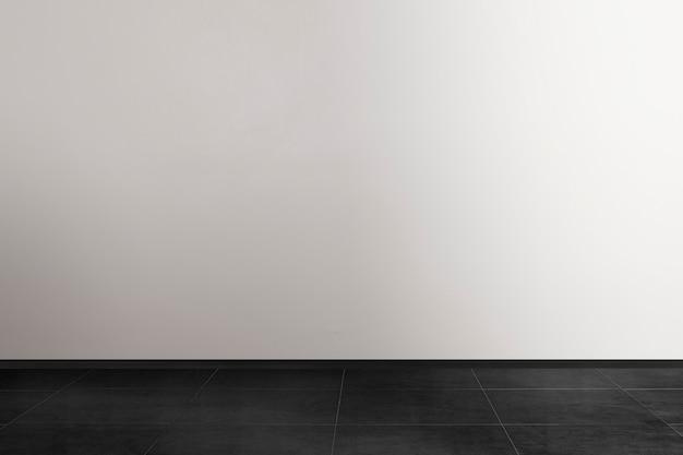Pusty minimalistyczny wystrój wnętrza pokoju w czarno-białym odcieniu