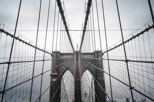 Pusty most brookliński podczas blokady