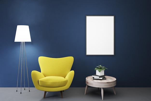 Pusty niebieski pokój