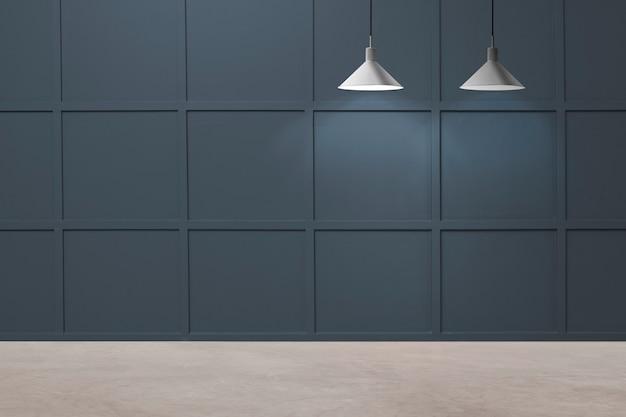 Pusty nowoczesny luksusowy wystrój wnętrza pokoju z lampami sufitowymi