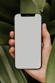 Pusty obraz ekranu telefonu komórkowego, urządzenie cyfrowe