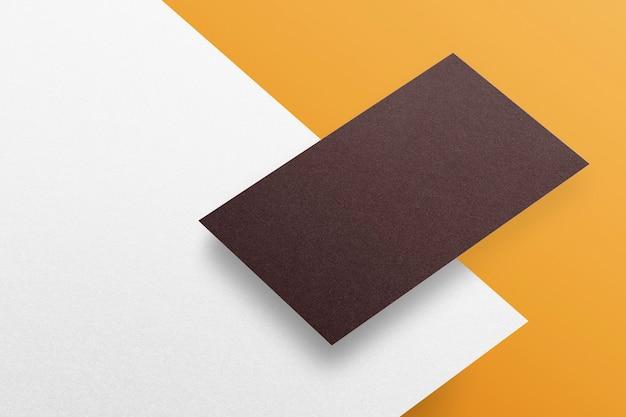 Pusty papier firmowy i papierowe wizytówki makieta tożsamości marki