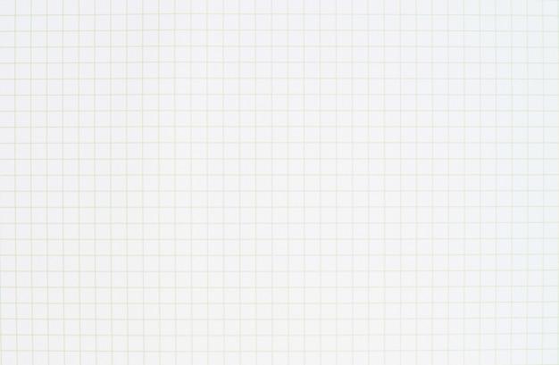 Pusty pasiasty notatnik białego papieru linii wzór. papier siatkowy do procesu projektowania wykresów pracy.