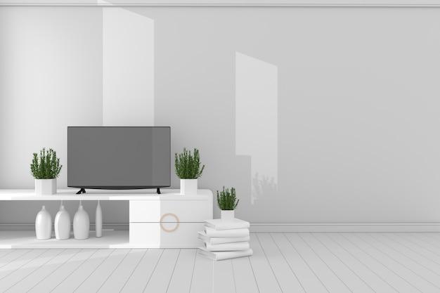 Pusty pokój koncepcja - minimalistyczny projekt, 3d rendering