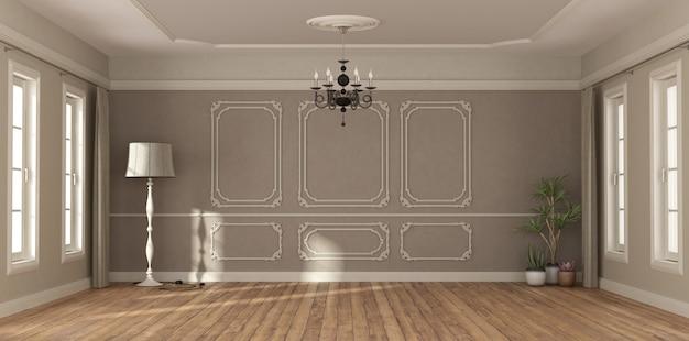 Pusty pokój w klasycznym stylu