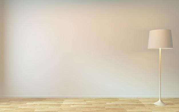 Pusty pokój zen minimalistyczny design. renderowania 3d