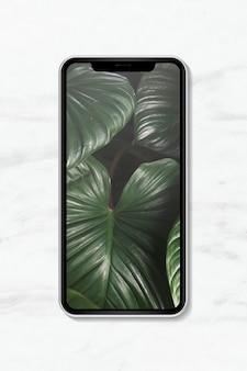 Pusty projekt ekranu smartfona