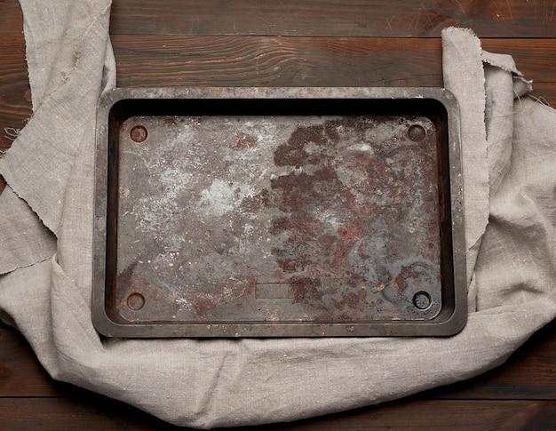 Pusty prostokątny żelazny blacha do pieczenia