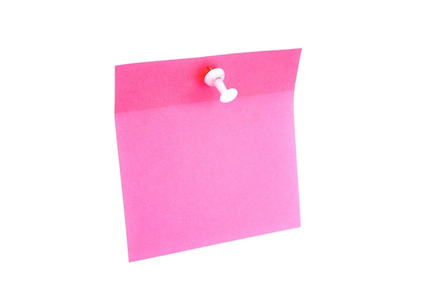Pusty różowy papier
