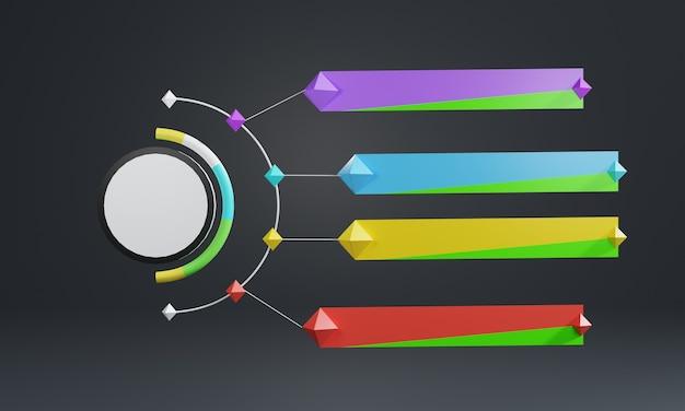 Pusty szablon infografiki projekt 3d