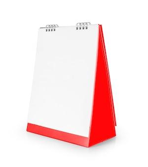 Pusty szablon kalendarza pulpitu na białym tle.