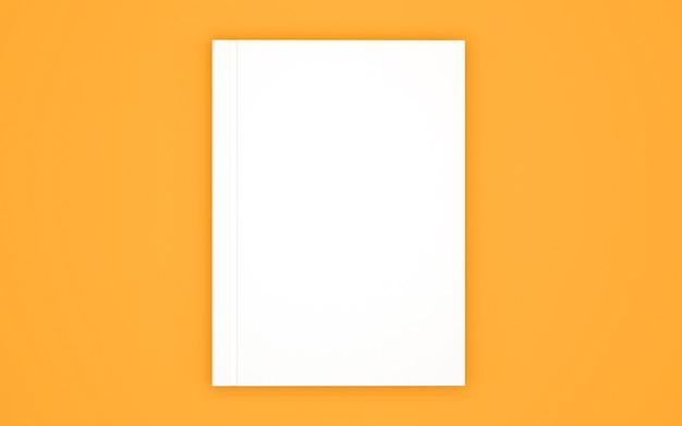 Pusty szablon okładki książki na żółtym tle