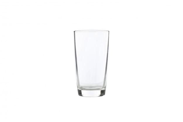 Pusty szkło odizolowywający na bielu. jest czysty i czysty