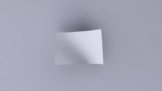 Pusty transparent biały na białym tle