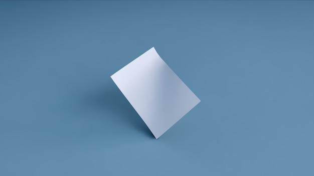 Pusty transparent biały na niebieskim tle