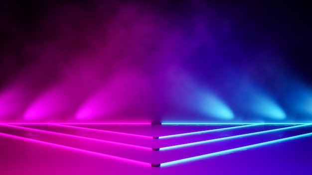 Pusty trójkątny neon