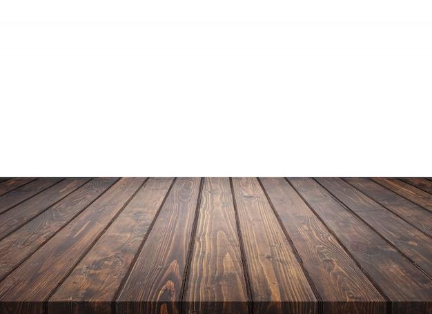 Pusty wierzchołek drewniany stołowy kontuar odizolowywający na bielu