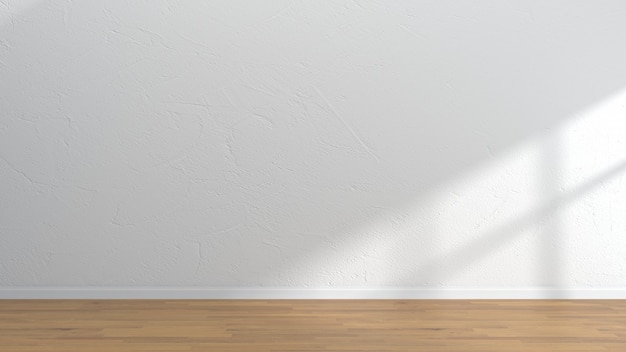 Pusty wnętrze pokoju drewniane podłogi białe ściany szablonu