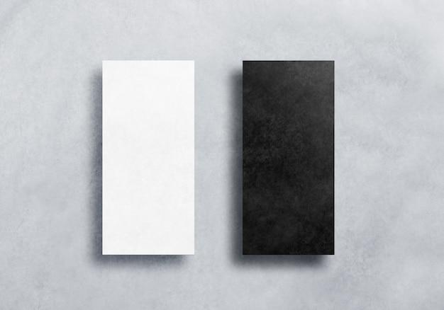 Pusty zestaw czarno-białych ulotek dl