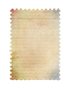 Pusty znaczek pocztowy zeskanowany w wysokiej rozdzielczości. zapisano ze ścieżką przycinającą.