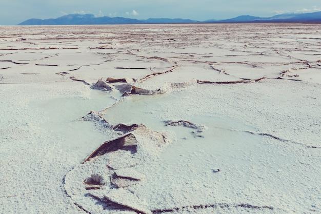Pustynia solna w prowincji jujuy w argentynie