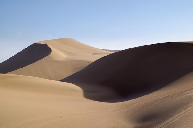 Pustynne wydmy huacachina w peru