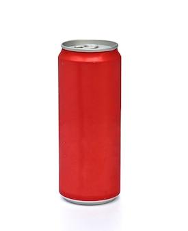 Puszka aluminiowa czerwona na biało