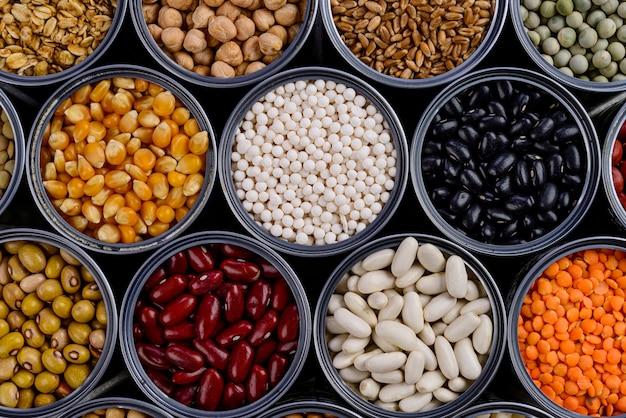Puszki do przechowywania różnych zbóż
