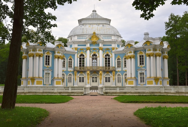 Puszkinsaint petersburg rosja09032020 budynki ermitażu w parku katarzyny
