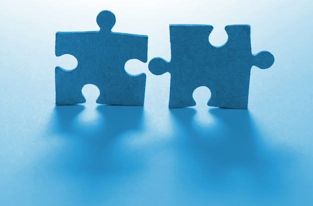 Puzzle na niebiesko