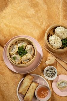 Pyszna azjatycka kompozycja żywności