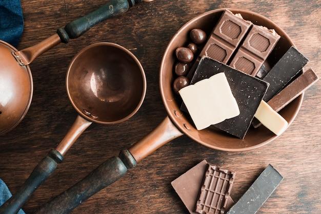 Pyszna kompozycja czekoladowa
