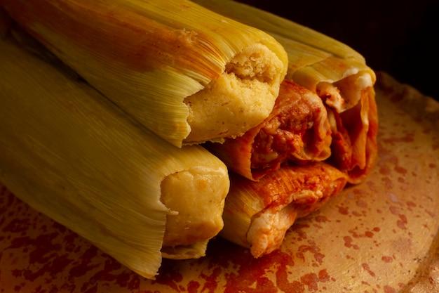 Pyszna tradycyjna kompozycja tamales