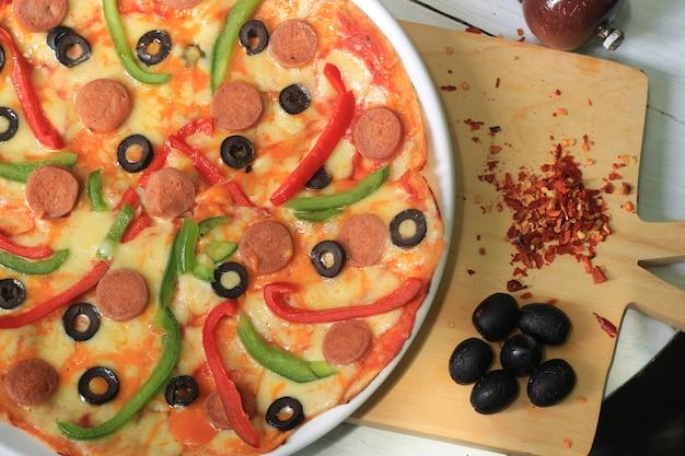 Pyszna typowa meksykańska pizza