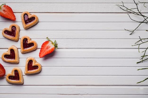 Pyszne ciasteczka w kształcie serca