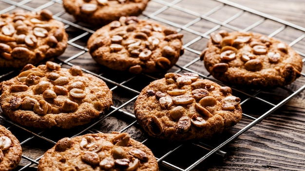 Pyszne ciasteczka z bliska