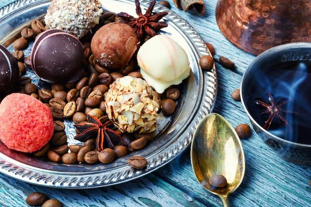 Pyszne cukierki czekoladowe