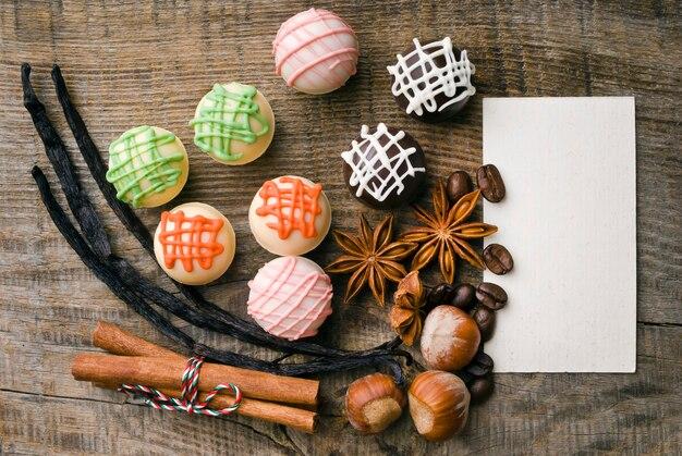 Pyszne czekoladki i przyprawy